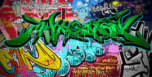 Fototapeta Graffiti Art Vector Background. Mur miejski