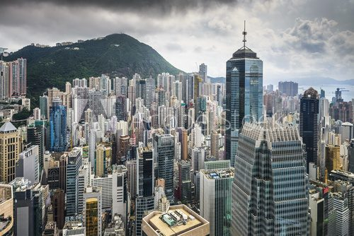 Fototapeta Hongkong China City Skyline