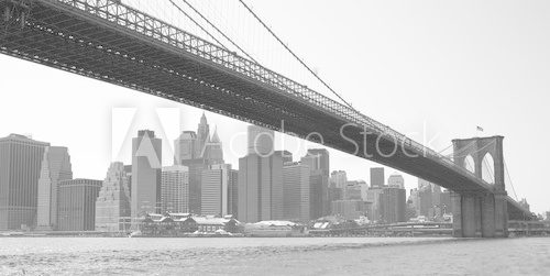 Obraz Nowy Jork Brooklyn bridge black
