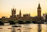 Fototapeta Big Ben Clock Tower i Parlament House w mieście Westminster,