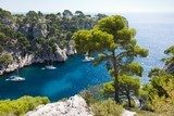 Fototapeta Calanques Port Pin w Cassis