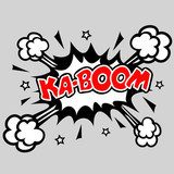 Fototapeta Kaboom - Comic Speech Bubble Explosion