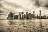 Fototapeta Lower Manhattan skyline widziane z Brooklyn Bridge Park