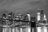 Fototapeta Most Brooklyński i Manhattan Skyline At Night, New York City