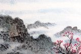 Fototapeta traditional Chinese painting , landscape