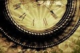 Fototapeta Vintage Clock Background