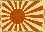 Fototapeta Vintage Japan Flag Landscape Background