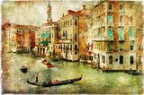 Fototapeta Venice -artwork in painting style