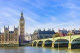 Fototapeta Westminster Bridge, Houses of Parliament i Thames river, UK