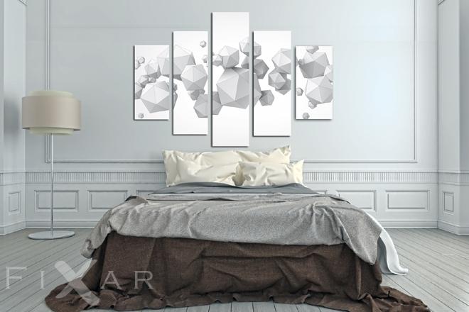 Geometria W 3d Do Sypialni Obrazy I Plakaty Fixarpl
