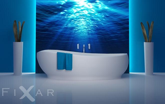 Promienie pod wod do azienki fototapety - Fototapete badezimmer ...