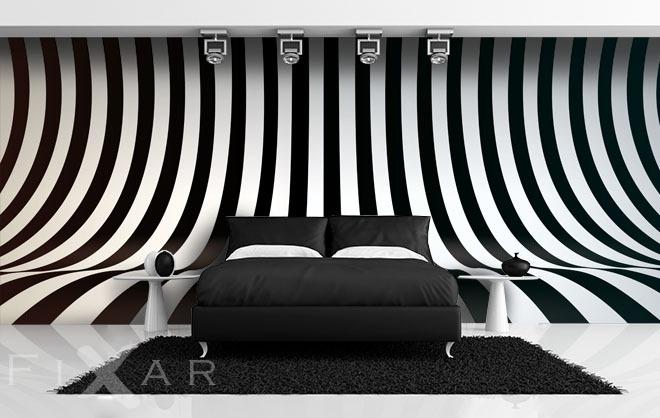 oryginalna zebra czarno bia e fototapety