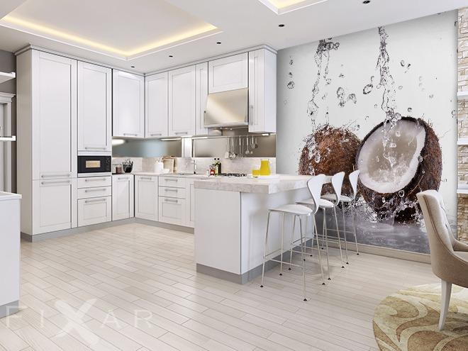 Kokosowe Orzeźwienie Do Kuchni Fototapety Fixarpl