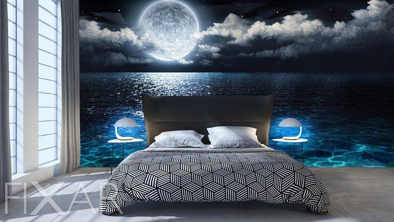 Marzenia Ksiezycowej Nocy Do Sypialni Fototapety Fixar Pl
